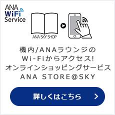 無料でアクセスできる国内線機内Wi-FiコンテンツANA STORE@SKY