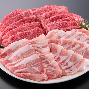 <宮崎県産>和牛・豚しゃぶしゃぶセット