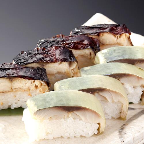 <日本料理 一乃松>焼鯖寿し・鯖寿しセット(各1本)