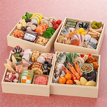 <京都・祇園かにかくに>おせち四段重