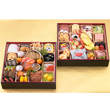 ★日本三大珍味と世界三大珍味が楽しめます!!★<大阪・黒門市場>豪華絢爛 二段重