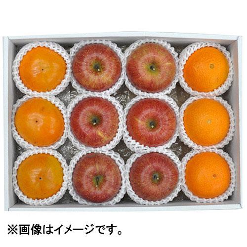 冬のフルーツ3種詰合せ(富有柿、サンふじ、紅まどんな)