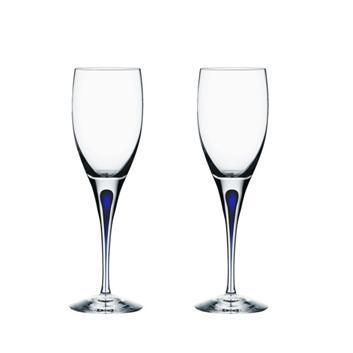<Orrefors>インターメッツォ 白ワイングラス2P