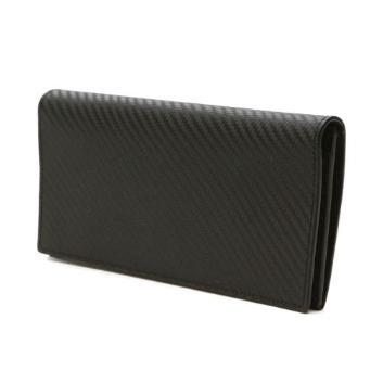 【タカシマヤ セレクト】<BRAMA DOVE>カーボンレザー長財布