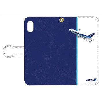 <ANAオリジナル>手帳型スマホケース 737-700 トリトンブルー