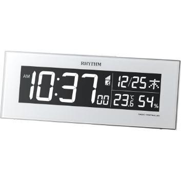 <リズム時計>Iroria365色LEDライトデジタルクロック