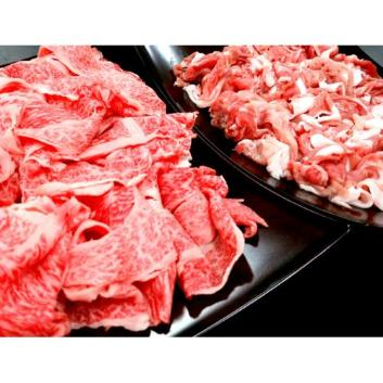 宮崎県産和牛・黒豚切り落としセット