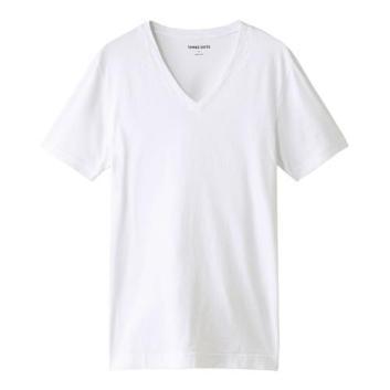 <スリードッツ>Brad  deep VネックTシャツ