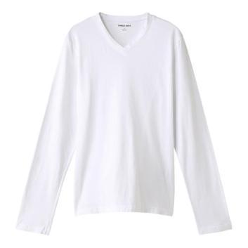 <スリードッツ>Ryan  Vネック長袖Tシャツ