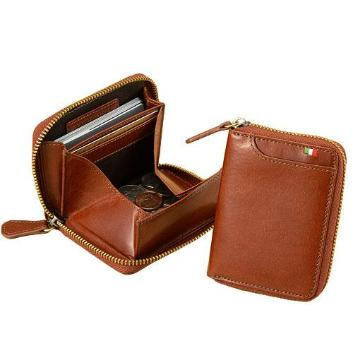 <ミラグロ>イタリアンレザー・横型ボックスコインケース