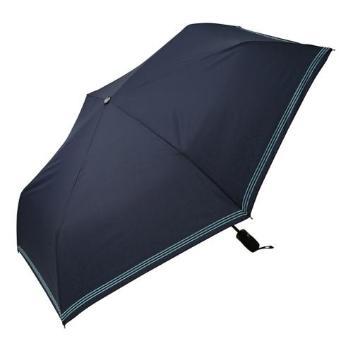 <アイウ>ボーダー柄折りたたみ傘