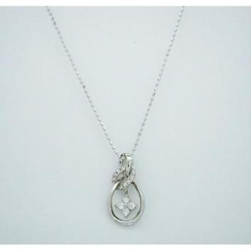 <グランブルー>K18WGダイヤモンドペンダント