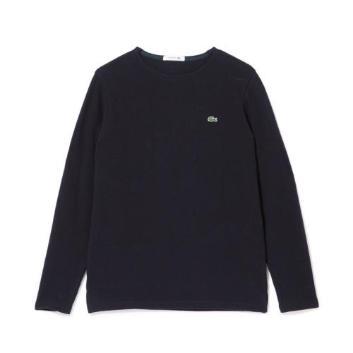 <ラコステ>コットンピケバスクTシャツ(長袖)