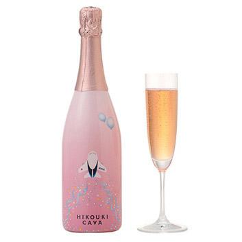 <ANAオリジナル>HIKOUKI CAVA(飛行機カヴァ)ハレ空【2018】(ロゼスパークリングワイン)