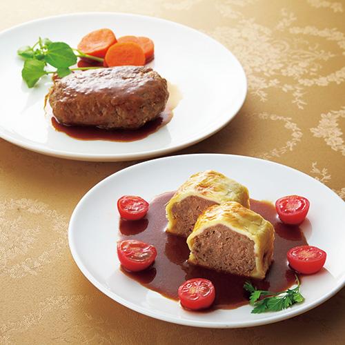 「ホテルオークラ」神戸牛ハンバーグ・ビーフパイセット