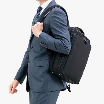 <ANA DESIGN> BLACK LINE A4サイズ対応リュック型ビジネスバッグ