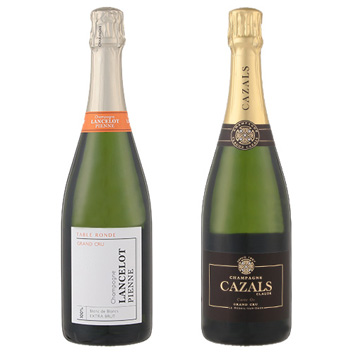 【送料無料】シャンパーニュ ブラン・ド・ブラン 飲み比べ2本セット