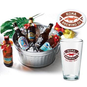 パラダイスビール5種 コナビールグラス&コースターセット