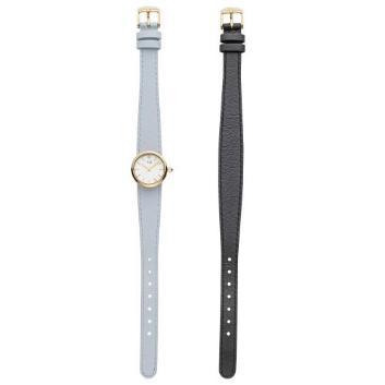 <VAヴァンドーム青山>ブラック&ブルーグレー2本ベルト時計