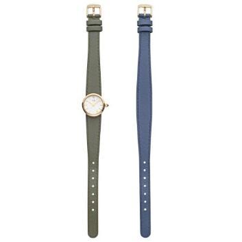 <VAヴァンドーム青山>ネイビー&カーキ2本ベルト時計