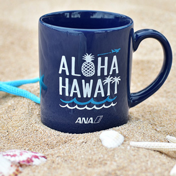 <ANAオリジナル>マグカップ~ALOHA HAWAII~ブルー