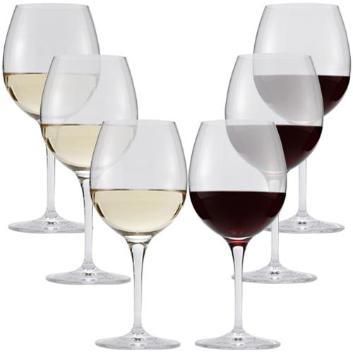 ペルル ワイングラス(レッド&ホワイト)6脚セット