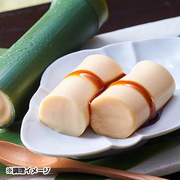 <京料理・六盛>竹筒ぷりん