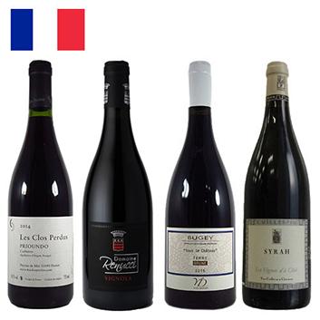 【送料無料】フランスのレアな産地からセレクト、フランス赤ワイン4本セット