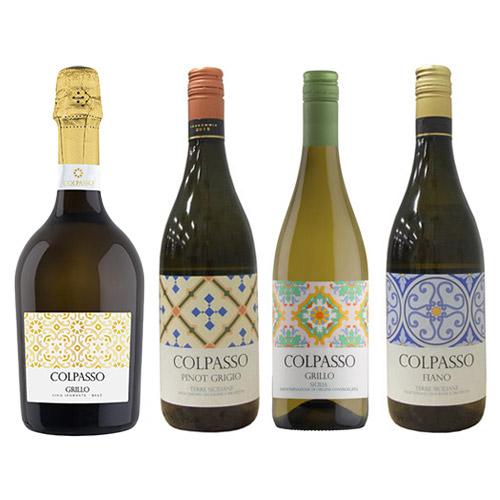 【送料無料】幾何学模様が鮮やかな、太陽の島シチリアのワイン4本セット