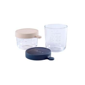 <BEABA>ガラス保存容器2個セット