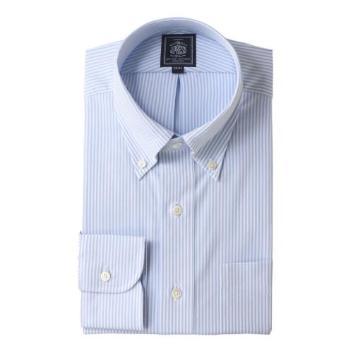 <Jプレス>PLEMIUMPLEATS ロンドンストライプ ボタンダウンシャツ