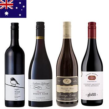 【送料無料】オーストラリア赤ワインの品種を味わう4本セット