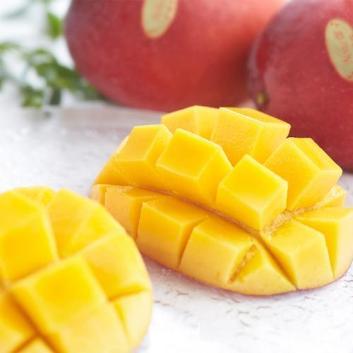 沖縄県長嶺農園別格「林檎」マンゴー特秀品1kg(2玉)(桐箱入)