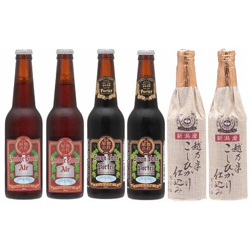 スワンレイクビール 金賞6本セット(3種各2本)