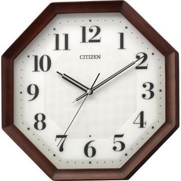 <リズム時計>インテリアに合わせやすい電波掛時計・角型
