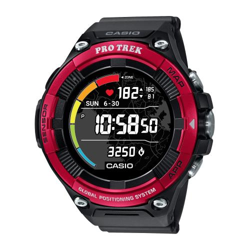 <カシオ>Smart Outdoor Watch PROTRECK Smart WSD-F21HR-RD(レッド)