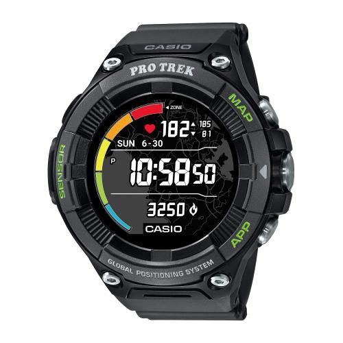 <カシオ>Smart Outdoor Watch PROTRECK Smart WSD-F21HR-BK(ブラック)