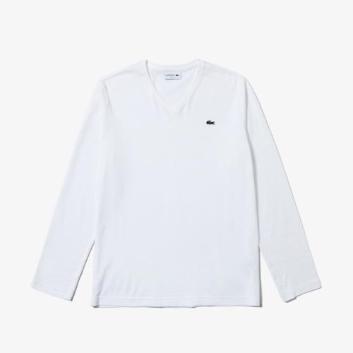<ラコステ>VネックTシャツ (長袖)