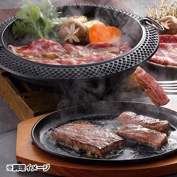 宮崎牛もも肉 ステーキとすきやき肉