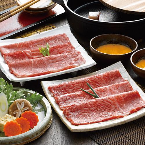 松阪牛とくまもとあか牛のすきやき肉450g