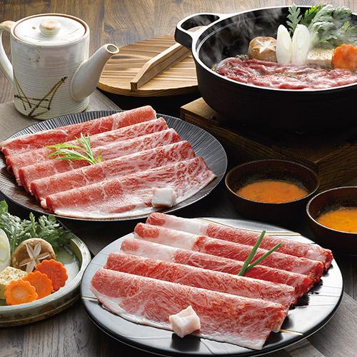 松阪牛とくまもとあか牛のすきやき肉680g