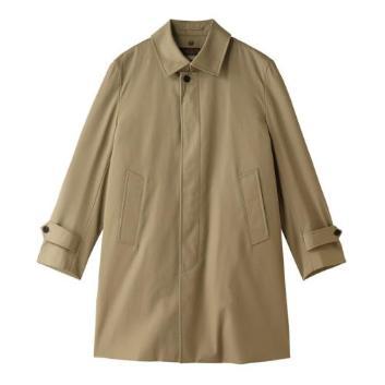 <Jプレス>先染めギャバステンカラーコート