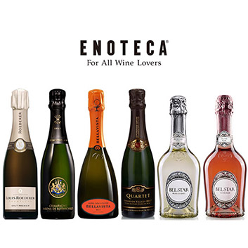 ハーフサイズ シャンパーニュ・スパークリングワイン 6本セット(エノテカ)