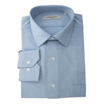 <ワークトリップ アウトフィッツ グリーンレーベル リラクシング>スリムワイドカラー シャンブレーツイルシャツ