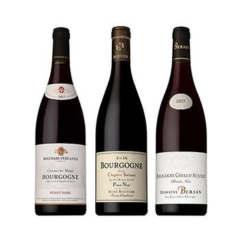【送料無料】ブルゴーニュ赤ワイン飲み比べ3本セット