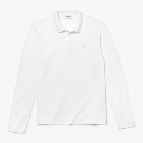 <ラコステ>レギュラーフィット ストレッチ パリポロシャツ (長袖)