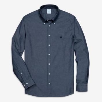 <ブルックス ブラザーズ>GF コットンシャンブレー スポーツシャツ Milano Fit