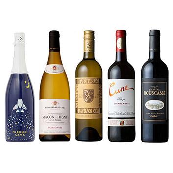 【送料無料】A-styleソムリエが選んだ、機内ワインが入った鍋を囲んでパーティーワイン5本セット