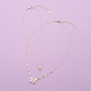 <ANNA SUI>【WEB限定】ROMANTIC BUTTERFLY 2本セットネックレス
