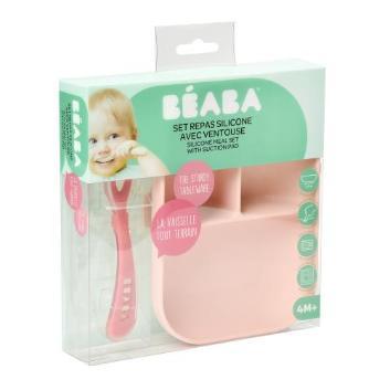 <BEABA>吸盤付きシリコンプレート&スプーンセット